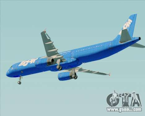 Airbus A321-200 Zoom Airlines for GTA San Andreas bottom view