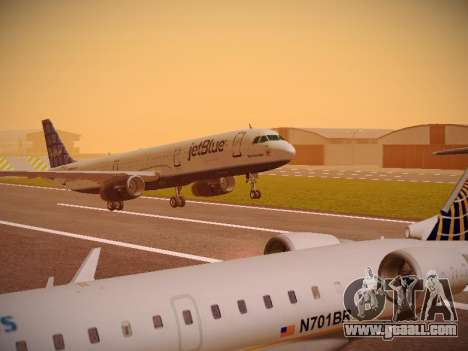 Airbus A321-232 jetBlue Blue Kid in the Town for GTA San Andreas left view
