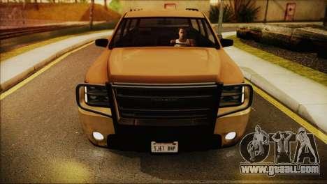 GTA 5 Granger for GTA San Andreas back left view
