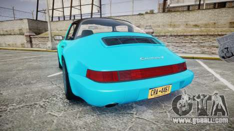 Porsche 911 Carrera 4 1989 for GTA 4 back left view