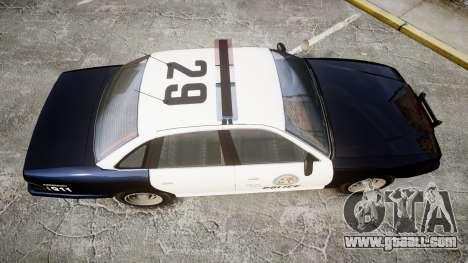 Vapid Police Cruiser GTA V LED [ELS] for GTA 4 right view