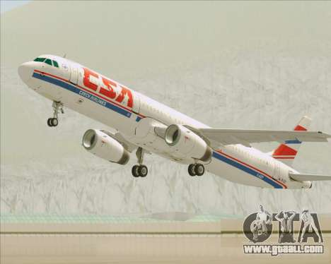 Airbus A321-200 CSA Czech Airlines for GTA San Andreas wheels
