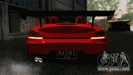BMW Z4 sDrive28i 2012 Racing for GTA San Andreas back view