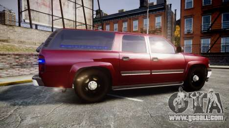 Chevrolet Suburban Undercover 2003 Black Rims for GTA 4 left view