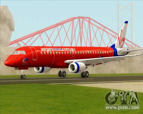 Embraer E-190 Virgin Blue for GTA San Andreas left view