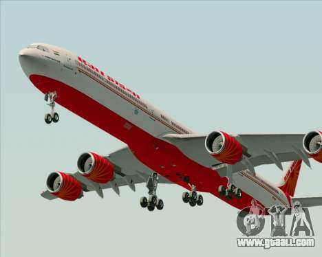 Airbus A340-600 Air India for GTA San Andreas right view