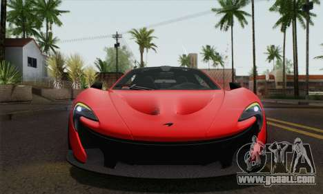McLaren P1 HQ for GTA San Andreas back view