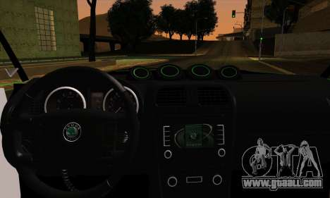 Skoda Fabia RS for GTA San Andreas back left view