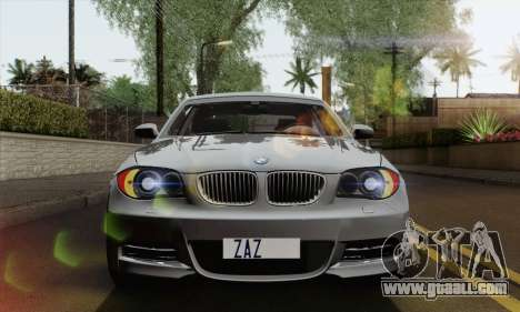 BMW 135i 2009 for GTA San Andreas right view