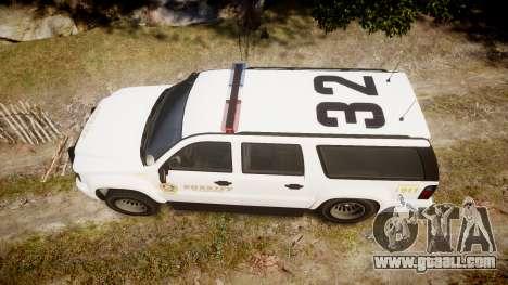 GTA V Declasse Granger LSS White [ELS] for GTA 4 right view