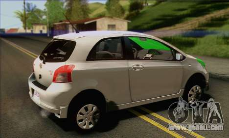 Toyota Yaris Shark Edition for GTA San Andreas left view