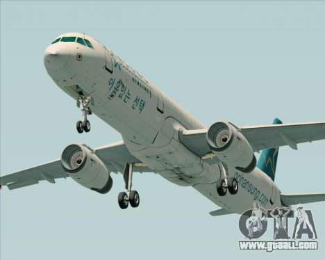 Airbus A321-200 Hansung Airlines for GTA San Andreas right view