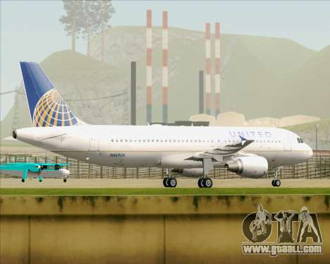 Airbus A320-232 United Airlines for GTA San Andreas back view