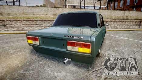 VAZ-2107 hobo for GTA 4 back left view