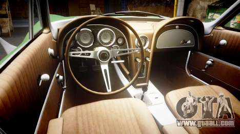 Chevrolet Corvette Stingray 1963 for GTA 4 inner view
