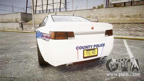 GTA V Cheval Fugitive LS Liberty Police [ELS] Sl for GTA 4 back left view
