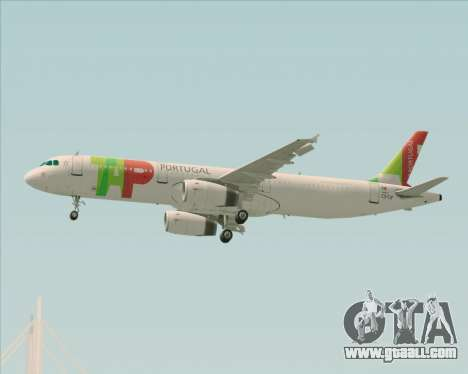 Airbus A321-200 TAP Portugal for GTA San Andreas upper view
