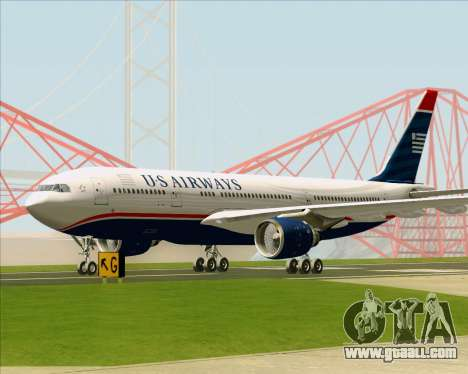 Airbus A330-200 US Airways for GTA San Andreas upper view