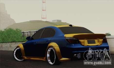 BMW M5 E60 Lumma for GTA San Andreas left view