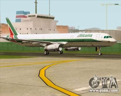 Airbus A321-200 Alitalia for GTA San Andreas