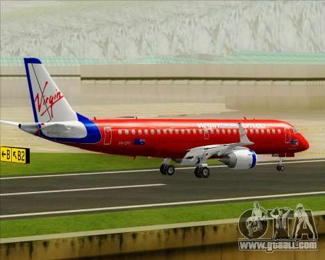 Embraer E-190 Virgin Blue for GTA San Andreas bottom view