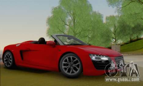 Audi R8 V10 Spyder 2014 for GTA San Andreas