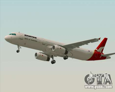 Airbus A321-200 Qantas for GTA San Andreas inner view