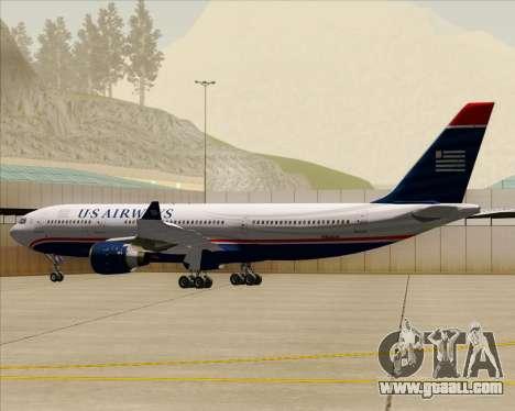 Airbus A330-200 US Airways for GTA San Andreas wheels
