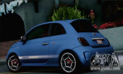 Fiat 500 Abarth 2008 for GTA San Andreas left view