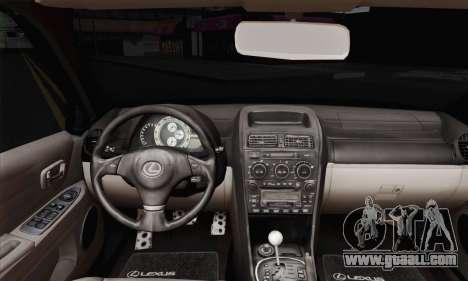 Lexus IS300 Hellaflush for GTA San Andreas back left view