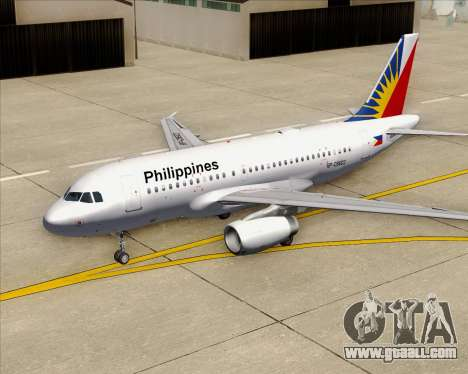 Airbus A319-112 Philippine Airlines for GTA San Andreas engine