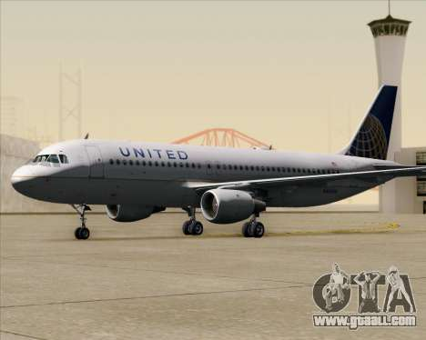 Airbus A320-232 United Airlines for GTA San Andreas upper view
