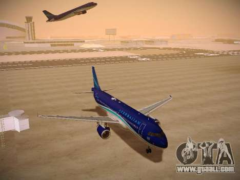 Airbus A320-214 Azerbaijan Airlines AZAL for GTA San Andreas back view