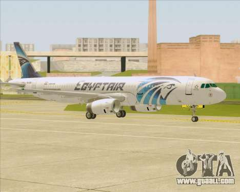 Airbus A321-200 EgyptAir for GTA San Andreas upper view