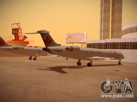 Bombardier CRJ-700 Air Canada Express for GTA San Andreas back view