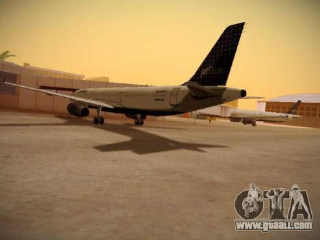 Airbus A321-232 jetBlue Woo-Hoo jetBlue for GTA San Andreas right view