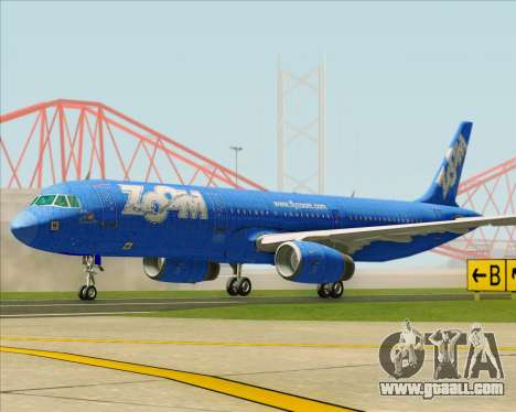 Airbus A321-200 Zoom Airlines for GTA San Andreas left view