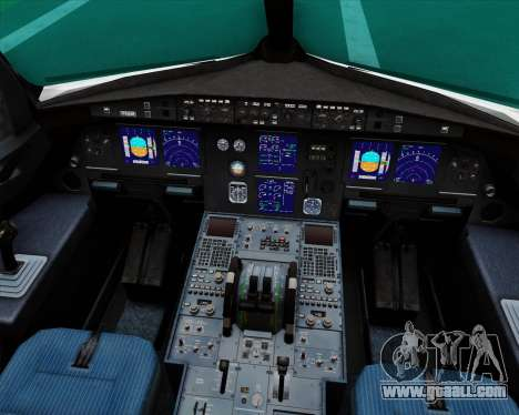 Airbus A321-200 Royal Jordanian Airlines for GTA San Andreas interior