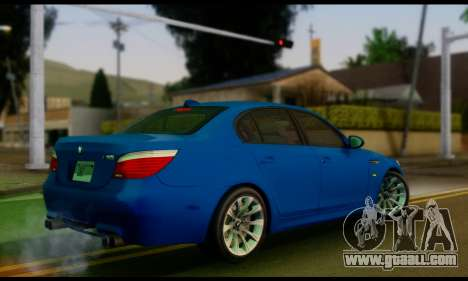 BMW M5 E60 2006 for GTA San Andreas left view