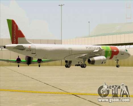 Airbus A321-200 TAP Portugal for GTA San Andreas wheels