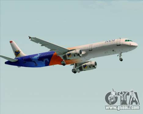 Airbus A321-200 Myanmar Airways International for GTA San Andreas back left view