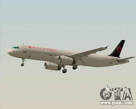 Airbus A321-200 Air Canada for GTA San Andreas back view
