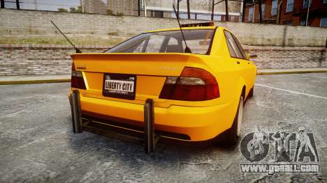 Karin Sultan Taxi for GTA 4 back left view