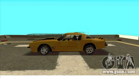 Chevrolet Camaro Z28 Bumblebee for GTA San Andreas back view