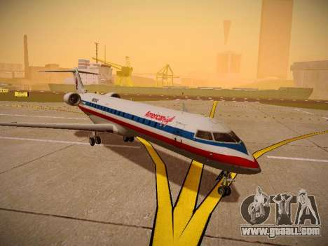 Bombardier CRJ-700 American Eagle for GTA San Andreas back left view