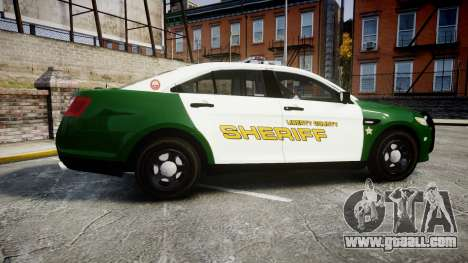 Ford Taurus 2014 Liberty City Sheriff [ELS] for GTA 4 left view