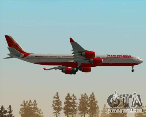 Airbus A340-600 Air India for GTA San Andreas upper view
