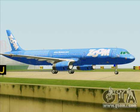 Airbus A321-200 Zoom Airlines for GTA San Andreas wheels