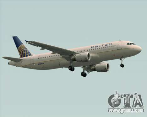 Airbus A320-232 United Airlines for GTA San Andreas left view
