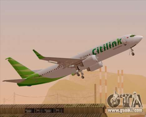 Boeing 737-800 Citilink for GTA San Andreas engine